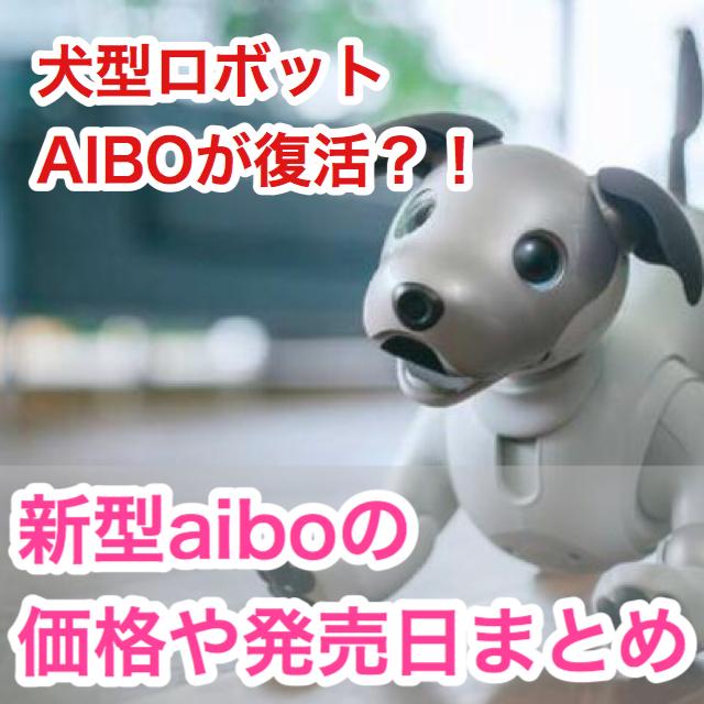 【ソニーが新型aibo(アイボ)を発表!】気になる価格や発売日は?!何が変わったの?