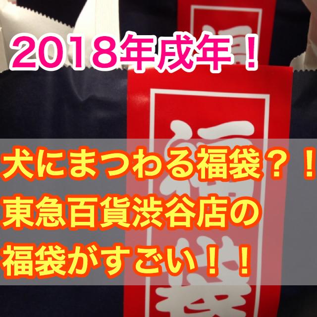 【2018年東急百貨渋谷店・福袋情報!】戌年にちなんだ福袋が販売される?!その中身は!
