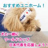 【犬用人気サッカーユニホーム】ワールドカップ日本代表を一緒に応援しよう!